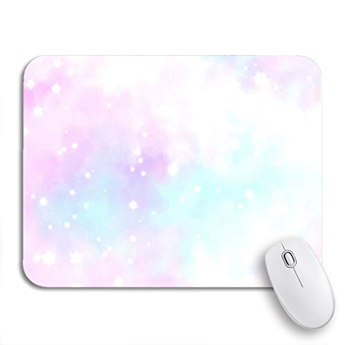 Adowyee Gaming Mouse Pad Blue Ombre Cloud Like Color Splash Abstract Pink Pastel 9.5'x7.9' Nonslip Rubber Backing Mousepad for Notebooks Computers Mouse Mats
