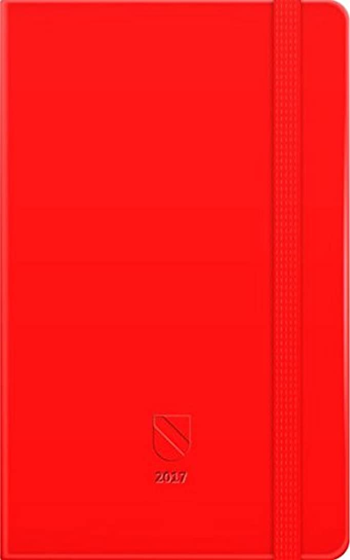 スリップ世界的に本体365 Tage Baden 2017, rot: Jahresplaner mit Einstecktasche und Leseband