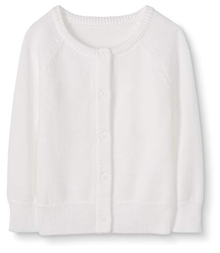 Moon and Back Baby Toddler Cardigan Sweater Suéter, Blanco, 2 años