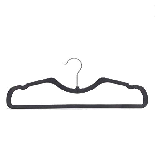 Higher Hangers Space Saving Clothes Hangers Slimline Heavy Duty Closet Organizers | Helps Reduce Wrinkles and Clutter | Great for Dorms and Increasing Closet Space | 40 Pack (Black Plastic)