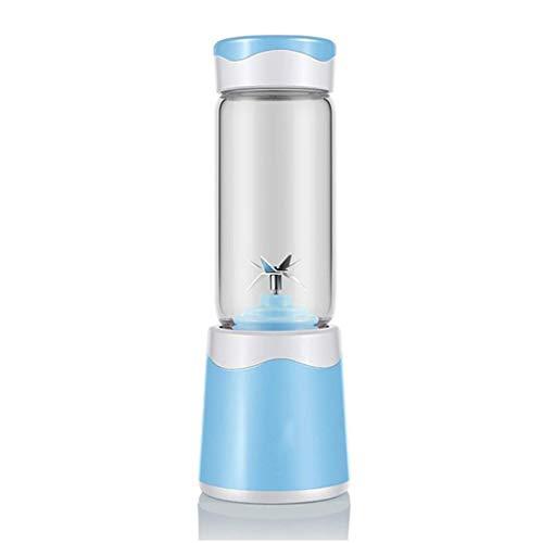 YWSZJ Blender portátil, Lento Exprimidor, Exprimidor Máquina for Las Frutas de Las portátiles, Frío Vertical Juicer de la Prensa con inversión (Color : Blue)