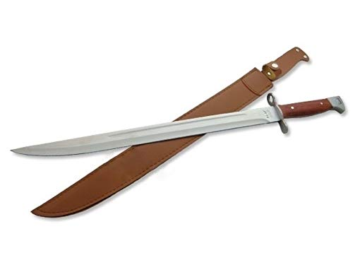 KOSxBO® CCCP 47 XXL Bajonett Messer Länge 51 cm mit Holster für Jäger - Angler - Camper - Prepper - AK Russland Schwert Fans -