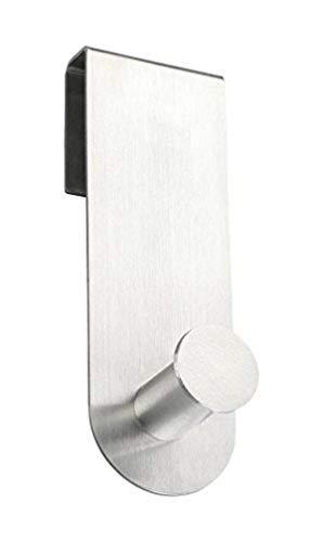 WENKO Percha para puertas Celano - gancho para el baño, Acero inoxidable, 4 x 12.5 x 5 cm, Mate