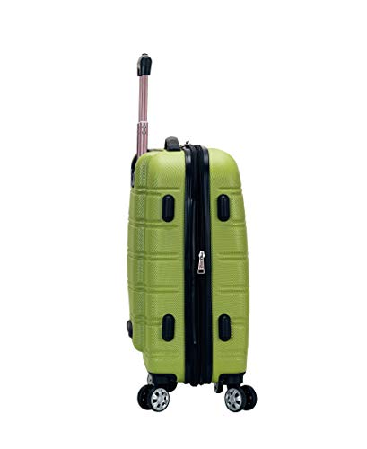 Rockland Melbourne Hardside Expandable Spinner Wheel Luggage, Lime, Carry-On 20-Inc   h