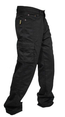 Los hombres protectores de la motocicleta Moto Pantalones Vaqueros de trabajo Carga de aramida revestimiento de protección reforzada