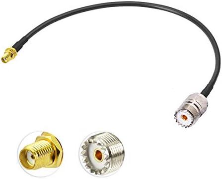2-Pack Bingfu Ham Radio Antenna Adapter SMA Female to UHF SO239 Female RG58 Coaxial Jumper Cable 1m 3 feet for Handheld Ham Two Way Radio Walkie Talkie Kenwood Baofeng BF-F8HP UV-5R UV-82 BF-888S