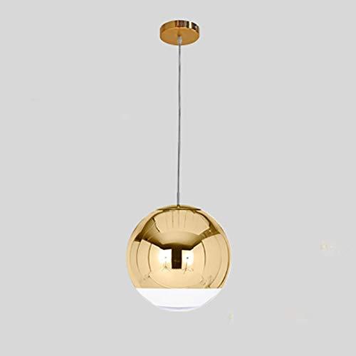 Moderne Kronleuchter Einfache Galvani Sphärische Goldene Blase Glasleuchter Spiegel-Ball-Kronleuchter,Goldfarben,Dia15cm
