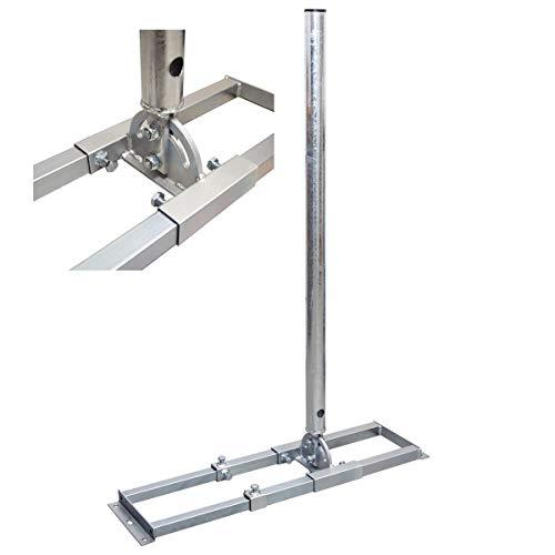 PremiumX Profi X100-48K SAT Dachsparrenhalter 100 cm Mast 48 mm Stahl feuerverzinkt Sparren-Halterung für Satelliten-Antenne Satellitenschüssel mit Kabeldurchführung