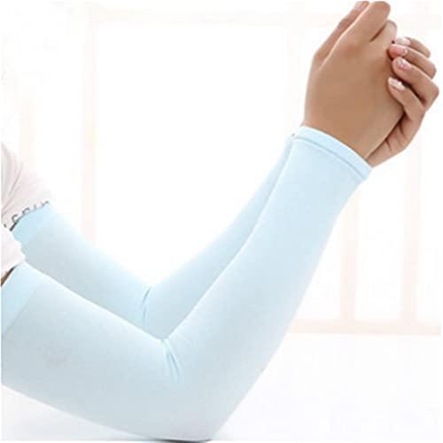 TTCI-RR Manguito de brazo para correr, fitness, protector de brazo, deportes, ciclismo, hombres y mujeres, transpirable, protector solar de secado rápido y protección UV (color: azul)