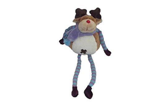 X- otros–Doudou el corte ingles ciervo reno marrón pañuelo morado larga piernas azul–6241
