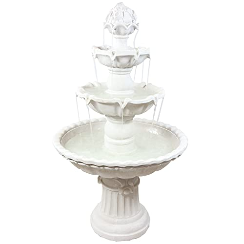 Sunnydaze 4-Tier Outdoor Water Fountain
