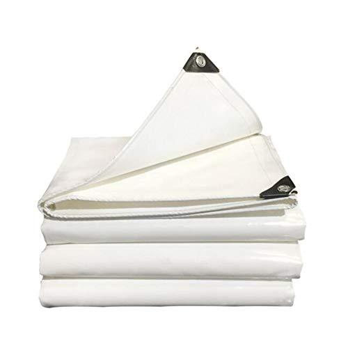 Dall bâche Grande Bâche Couvertures Imperméable Heavy Duty Épais Ombre du Soleil De Plein Air (Couleur : Blanc, Taille : 5 * 6m)