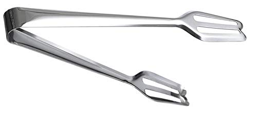 Kitchen Kemistry Edition 2019 Stainless Steel 9inch Long Slotted Ends Serving Tong