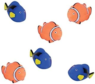1 Dozen (12) Rubber Water BLUE TANG/CLOWN FISH Bath Toys! Perfect for Birthday Party Favors - Prizes - Stuffers and More!
