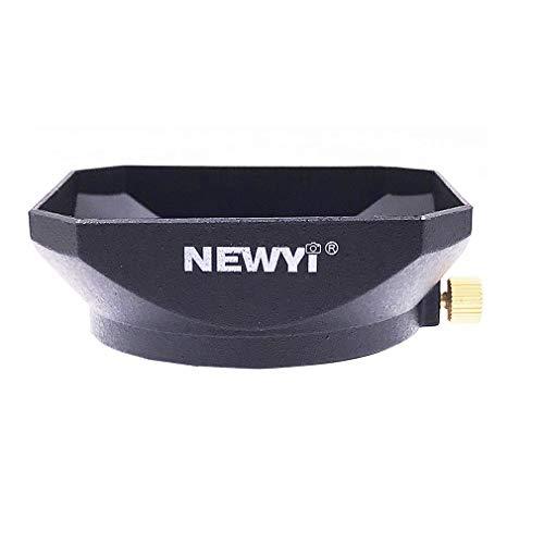 NEWYI 37/39 / 40.5mm Vierkante vorm Zonnekap Cover Schroefbevestiging voor spiegelloze lens DV-camcorders Videocamera Lens (zwart)