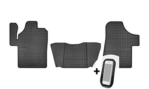 moto-MOLTICO Gummimatten Auto Fußmatten Gummi Automatten Passgenau 3-teilig Set - passend für Mercedes Vito Viano 2003-2018