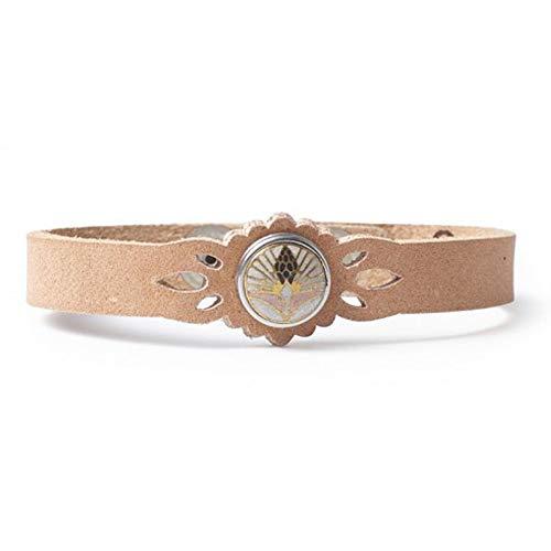 Noosa Petite Damen Armband Magnolia Beauty mit Chunk natural Geschenkbox, Größe:M