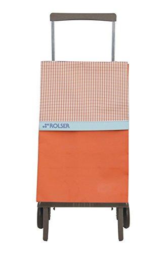 Rolser Carro Plegable Plegamátic Original Vichy Mandarina Compra y Traslados, Aluminio, Centimeters