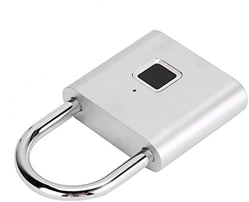 SONG Mini Cerradura de Huellas Dactilares, Candado Táctil Electrónico, Candado Antirrobo Candado de Seguridad Portátil para Armario Armario Caja de Almacenamiento