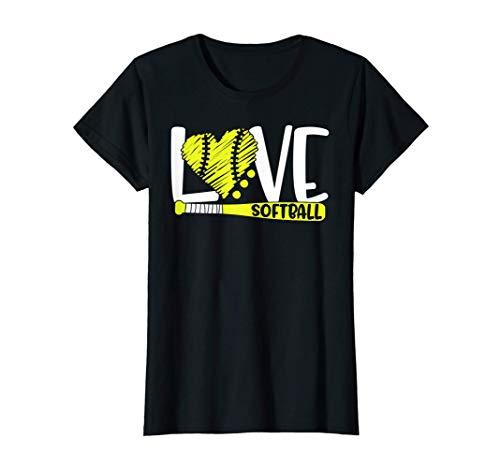 Softball Graphic Saying Shirts for Teen Girls and Women T-Shirt