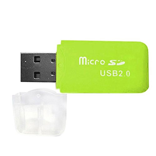 Adaptador de Lector USB SD SD2.0 DE Tarjeta Verde SD Lee de...