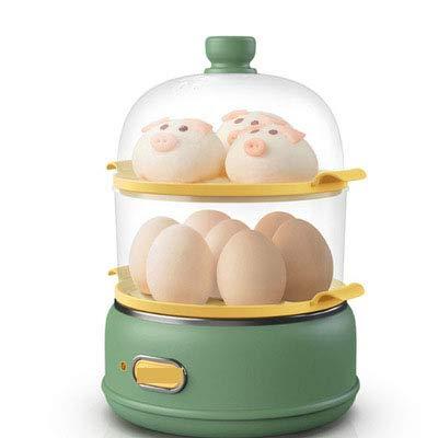 HFAFRZ Eierkocher Testsieger, Eierkocher Edelstahl Weiche Mittlere HäRteeinstellung Schnell Macht Lebensmittel GemüSe Inklusive Dampfgarer-Aufsatz In Haus & KüChe