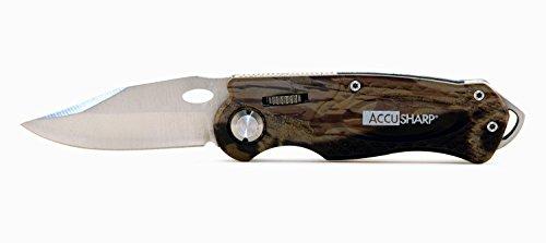 AccuSharp Erwachsene Messer Sportmesser, Tarnfarbe, 6.35 cm