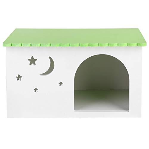 Casa para mascotas pequeñas, conejillos de Indias Casa nido para conejos Mascotas Caja de erizo Jaula Cabina verde