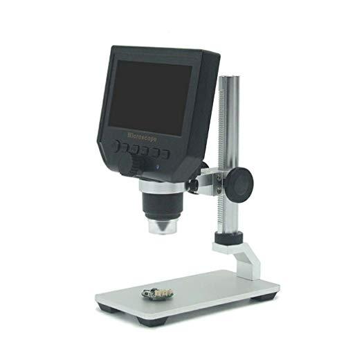 """Hongyans Microscopio G600 HD per la riparazione del telefono cellulare, 4,3\"""", 600X, microscopio elettronico digitale, colore: nero"""