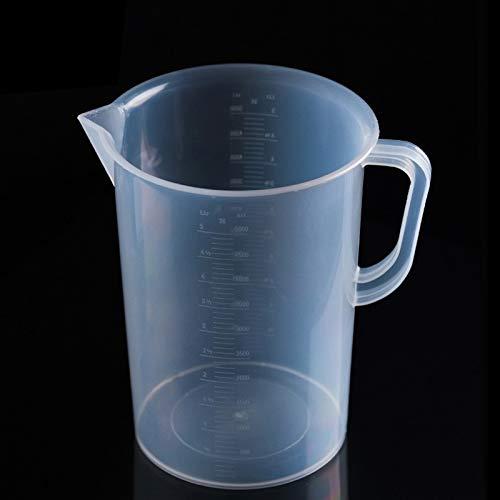 Zhangl Utensilios de Cocina 5000 ml Grado Alimentario PP Plástico Frasco Digital Taza de medición Cilindro Escala Medición Laboratorio de Vidrio Herramientas de Laboratorio Utensilios de Cocina