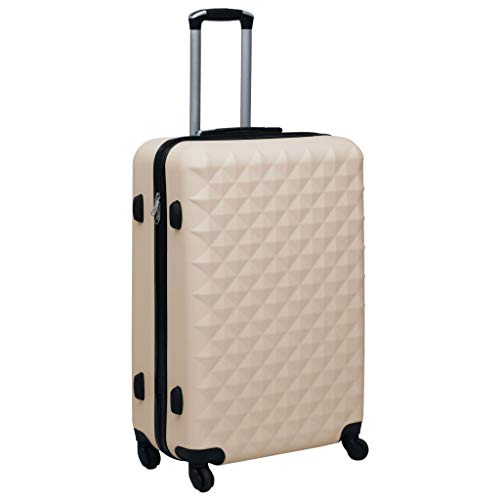 pedkit Hardcase Trolley, ABS Hard Shell Luggage Suitcase Travel Trolley Case Gold