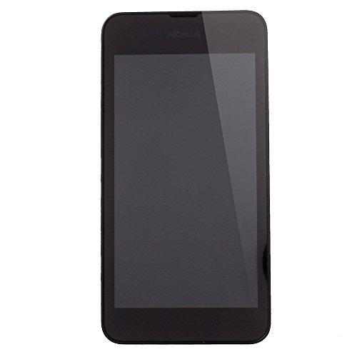 Movilstore LCD-Display + Touchscreen + Rahmen, kompatibel mit Nokia Lumia 530, Schwarz