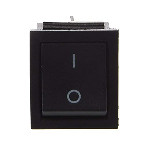 nJiaMe Interruptor Heavy Duty Toggle Amps ON/Off 4 Posición DPDT Interruptor eléctrico AC 250 V 16A Negro