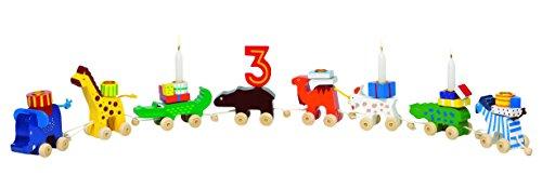 cama24com Geburtstagskarawane Tierkarawane aus Holz von goki Kindergeburtstag Dekoration mit Palandi® Sticker