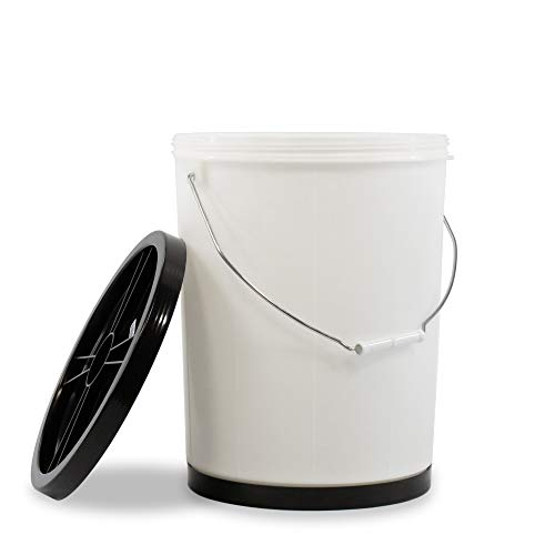 5 Gallon Flip Bucket | Food Rotation & Storage Container | Great for Storing Wheat, Rice, Sugar, Pet Food, Grains, and More | 1 Bucket