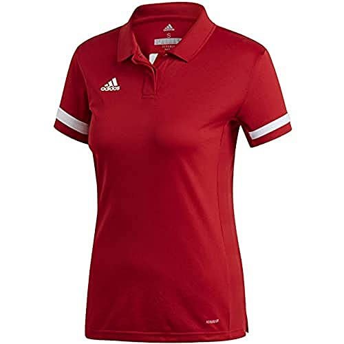 adidas T19 Polo W Polo Shirt, Mujer, Power Red/White, 2XL
