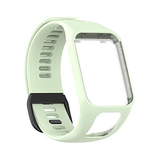 Osuner Pulseira de relógio inteligente Tomtom, pulseira de silicone à prova d'água, acessórios de relógio inteligente, compatível com Tom Tom Runner23/Spark