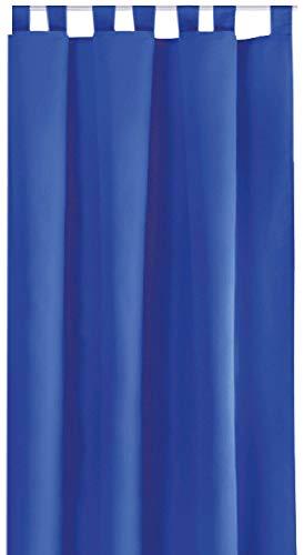 Bestlivings Blickdichte Gardine mit Schlaufen (140x175 cm/Blau), in vielen Variationen