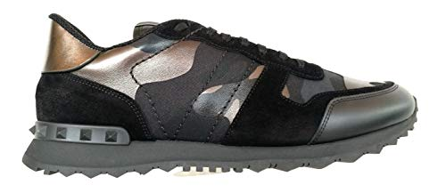 Valentino Garavani Sneakers Scarpe Uomo ROCKRUNNER UY2S0723NTA E43 Nero Bronzo (Numeric_45)