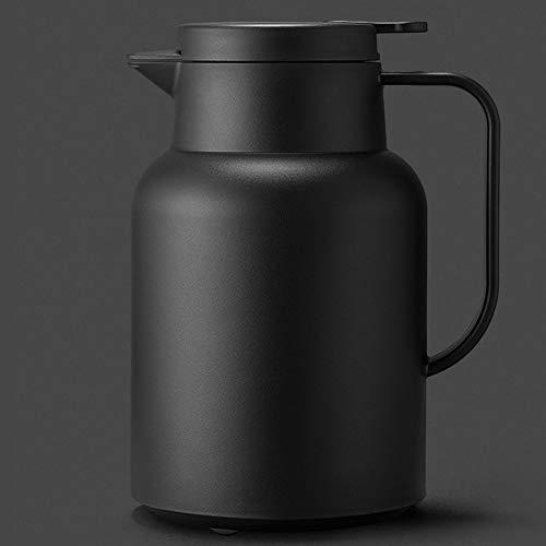 LIUSHENGFUBH Jarra Térmica Termo Cafe Pote de Aislamiento, hervidor de Vidrio Estilo nórdico Estilo múltiples especificaciones de vacío TERMOS DE Alta CAZAJE DE VACÍO 1.5L (Color : Black)