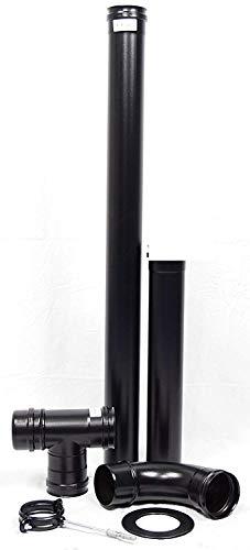 di/ámetro 80 mm, 100 cm Wolfpack 22013000 Tubo estufa pellet vitrificado