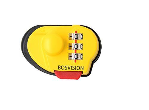 Bosvision Candado de Pistola [Candado para Armas] [Candado de gatillo] combinación de 3 dígitos para Pistolas, fusiles y escopetas.