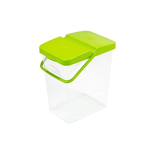 10 L Behälter Waschpulver Futterbehalter Unibox mit Deckel grün Aufbewahrungsbox Bad Küche