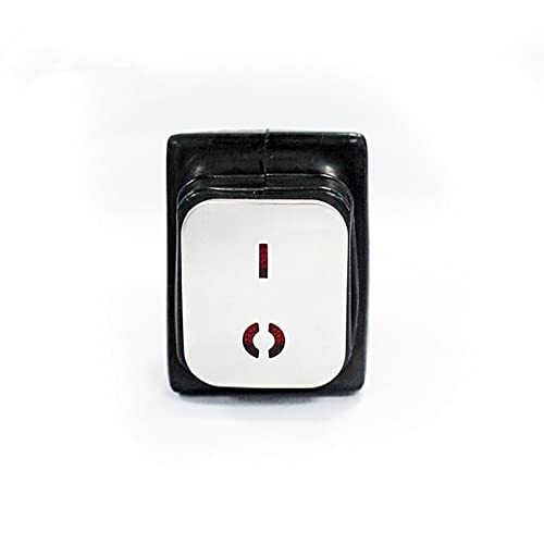 LEILEIMY Interruptor basculante Rocker Impermeable Interruptor DPST 6V 12V 24V 110V 380V 220V Rojo Verde Claro Luz de LED en el Panel de Superficie de Acero Inoxidable montado Accesorios