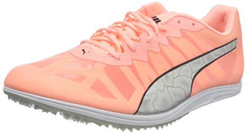 PUMA Evospeed Distance 9 Wn's, Zapatillas de Atletismo Mujer, Rosa (Elektro Peach Silver Black), 38.5 EU