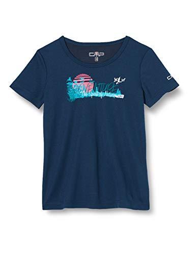 CMP Mädchen T-Shirt Blue, 140, 38T6385