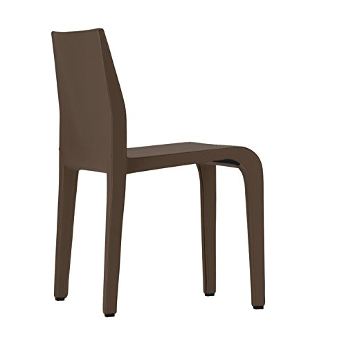 Alias 316 Laleggera Chair Stuhl mit Leder, Dunkelbraun BxHxT 40x79x49cm