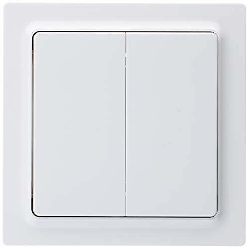 Eltako 9102982 ELTA 4fach reinweiss glänzend Funktaster E-Design, 84 x 84 x 16 mm, F4T65-wg, weiß