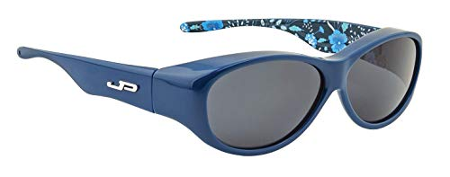 JP BY JONATHAN PAUL FITOVERS SUNGLASSES IN FLORAL TEAL - POLARVUE GREY LENS