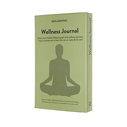 Moleskine Wellness Journal, Notebook a Tema - Taccuino con Copertina Rigida per Tracciare i Tuoi Obiettivi di Salute e Fitness, Dimensione Large 13 x 21 cm, 400 Pagine